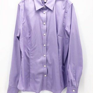 Banana Republic Womens Button Down Shirt Purple M